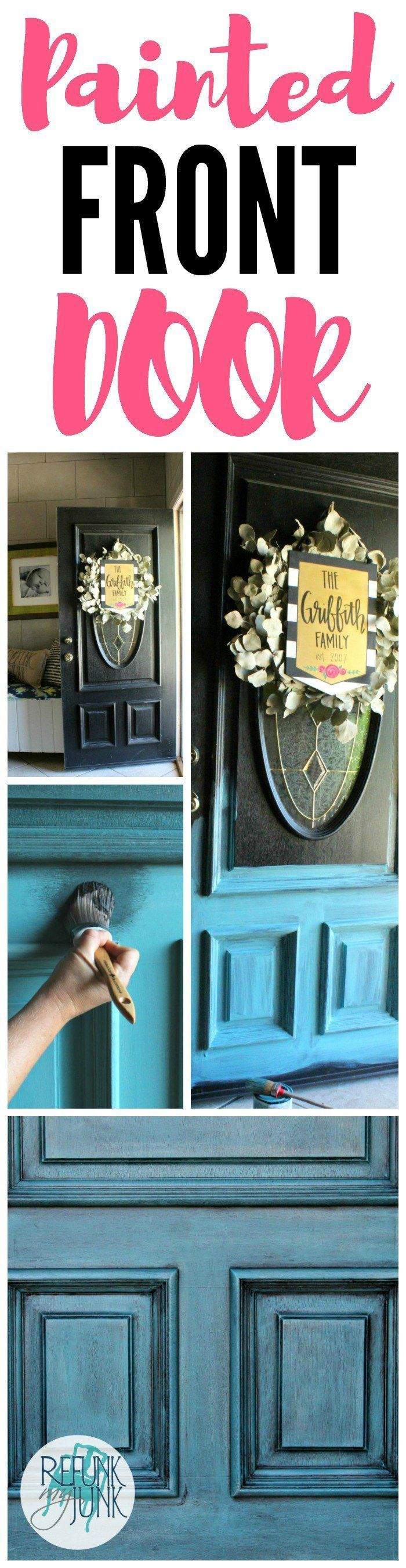 See how I painted my front door blue using a custom color from Heirloom Traditio...
