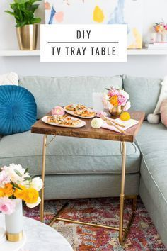 Date Night In: DIY TV Tray Table & Folded Heart Napkins by top Houston lifestyle...