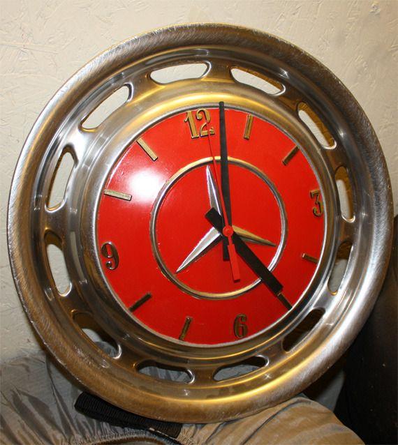 Mercedes Hubcap Clock