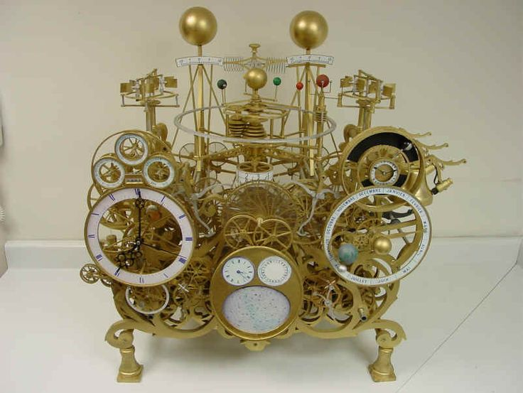 This clock has a 400 year perpetual calendar, shows the equation of time, sidere...