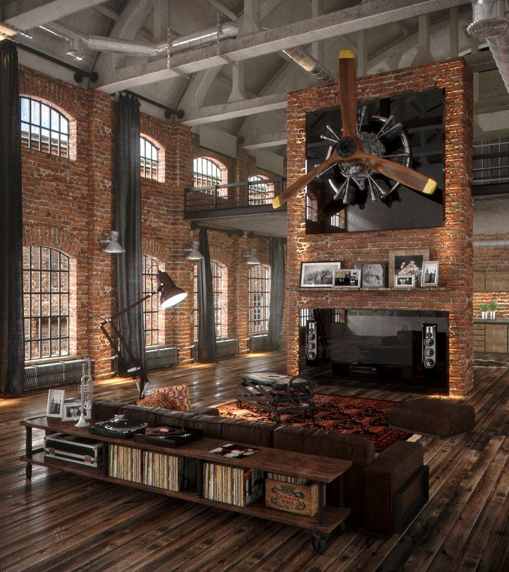 Decor Hacks : Industrial Style Living Room Design: The