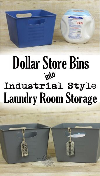 Decor Hacks Pretty Laundry Room Storage From Dollar