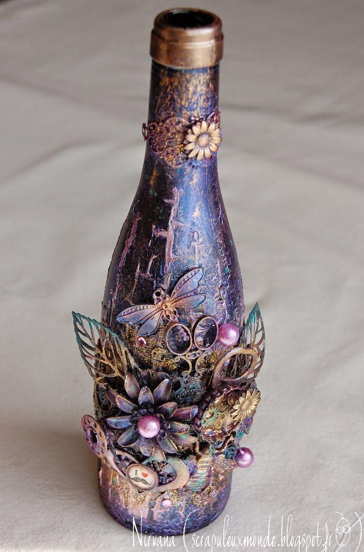 Coucou!!!     Boire un petit coup c'est agréable, scrapper la bouteille c&#...