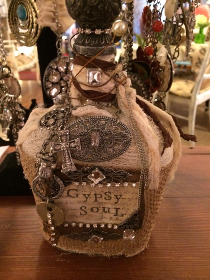 Gypsy Soul Bottle...designed & created by TABAS Designs....available at Gloria J...