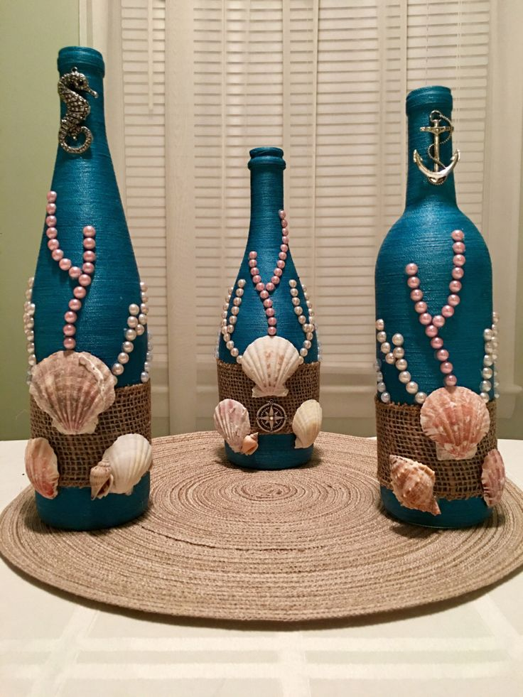 Decorative Bottles Hand Wrapped Wine Bottle Bottle