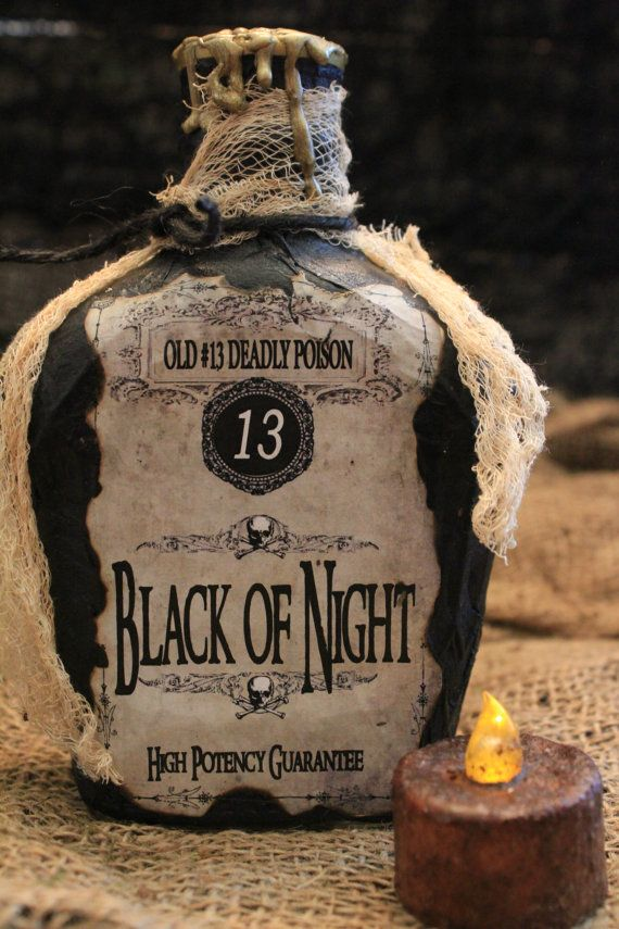 Halloween Potion Bottle Set,
