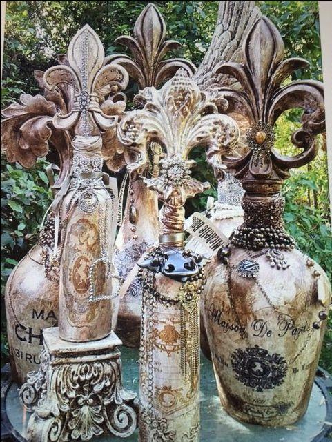 Michelle Butler Designs Fleur de Lis Bottles  ❤️SHOP❤️ www.crownjewel.de...