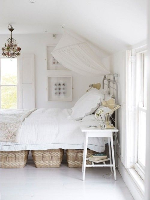 baskets as underbed storage