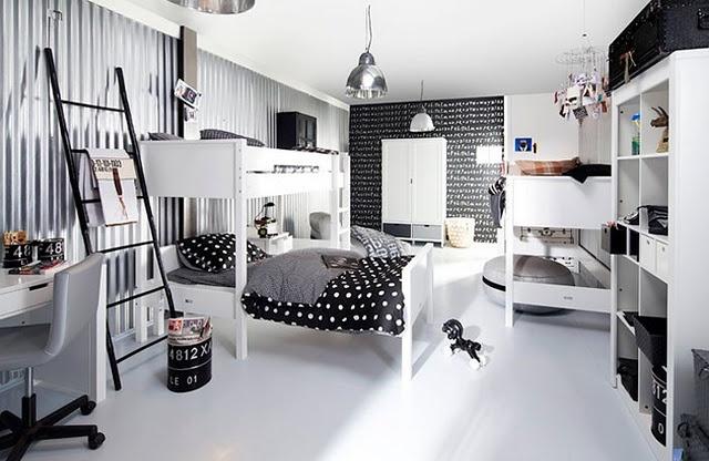 black, white