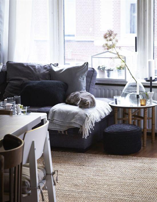 Gray Living Room Via Ikea Family Live