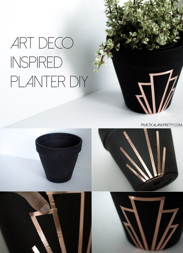 Simple terra cotta planter update with a huge impact. Any plant would look nice ...
