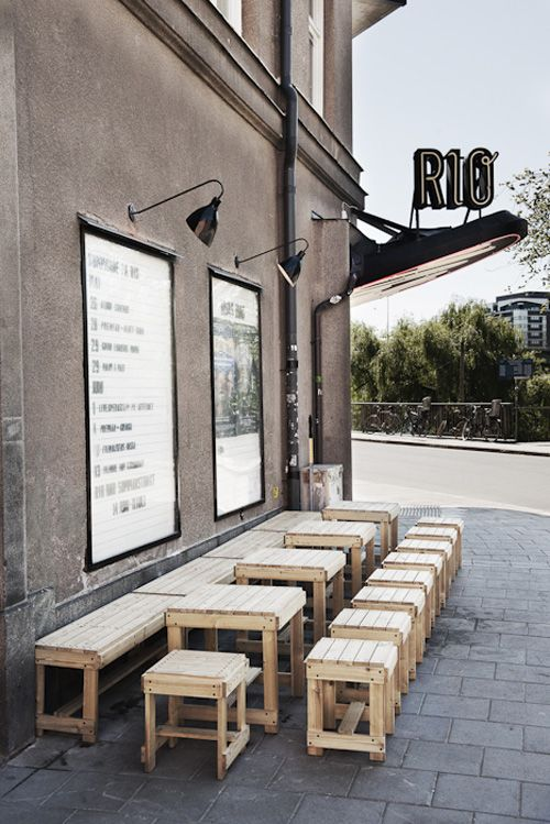 Bio Rio (Stocolm). Versatile cinema, coffe and meeting place. - Design by 1:2:3 ...