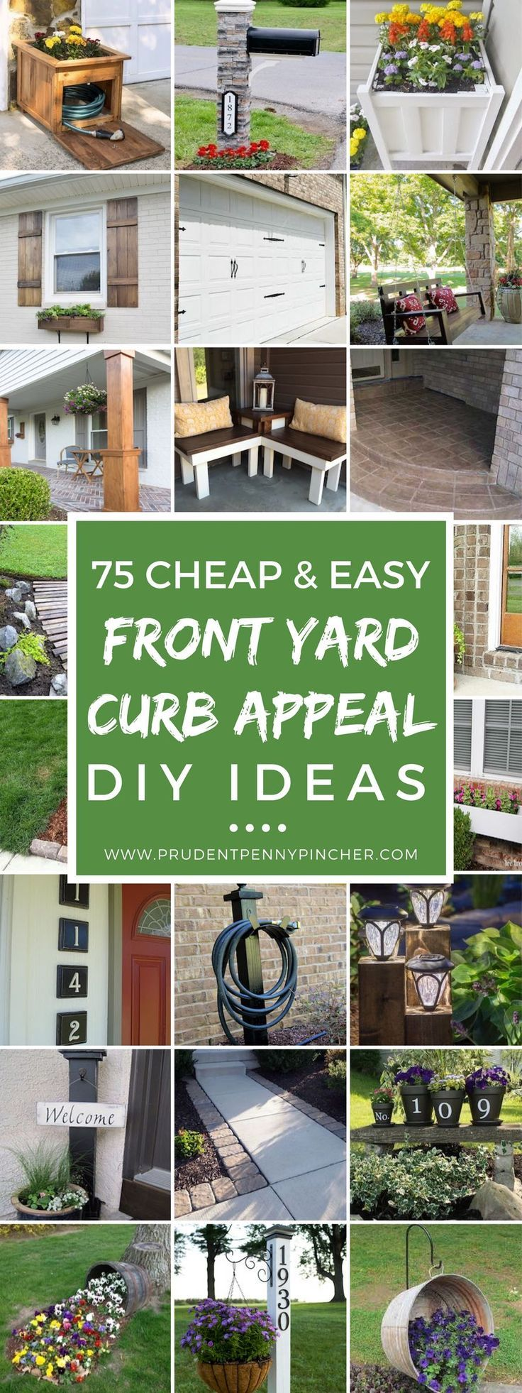 Outdoor decorating gardening 75 cheap and easy front - Diy front yard landscaping ideas on a budget ...
