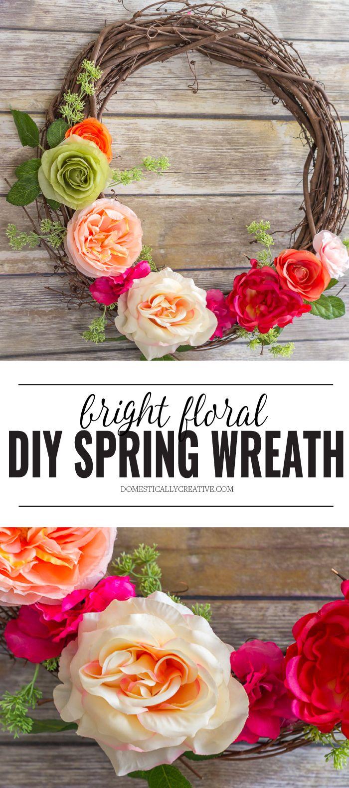 DIY Spring Floral Wreath