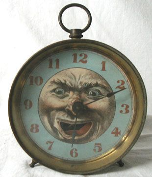 4201: Man in the Moon Alarm Clock, Dated 3/2/1886