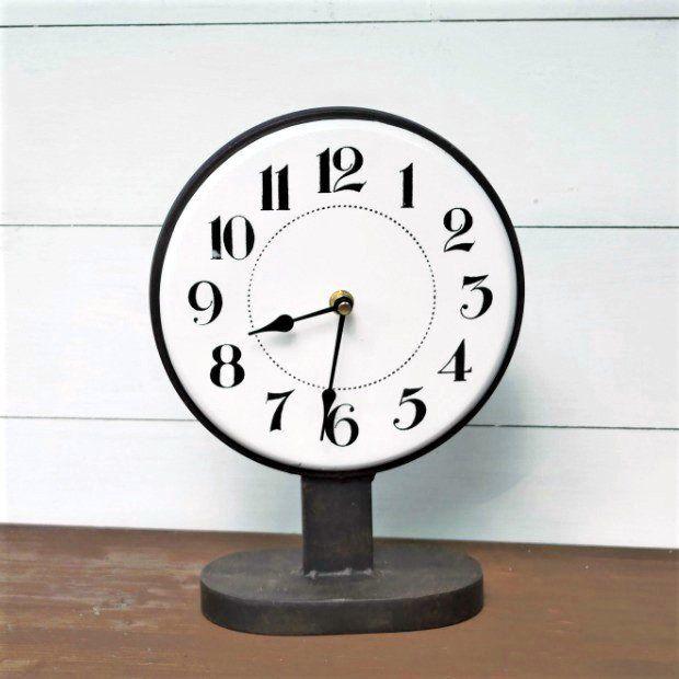 Industrial Metal Standing Clock