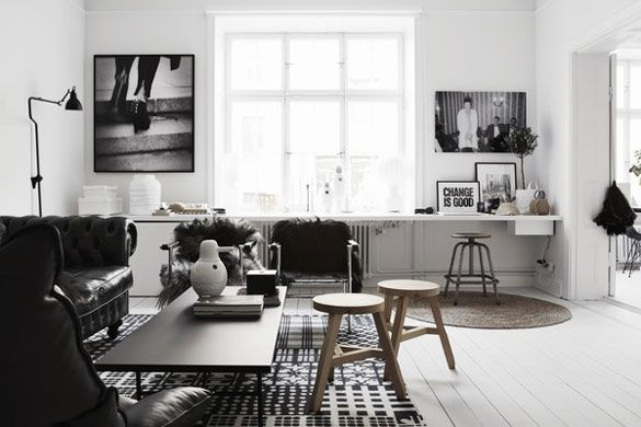 The home of Therese Sennerholt via nordicdesign.ca