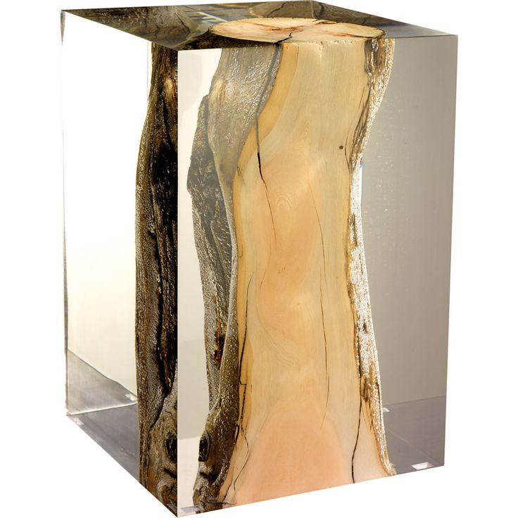 Acrylic and driftwood stool. - All Bleu Nature creations are born of an encounte...