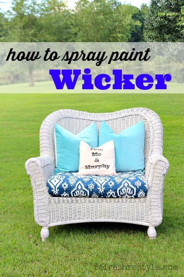 From dated brown to light and bright - How to Spray Paint Wicker - #RefreshResty...