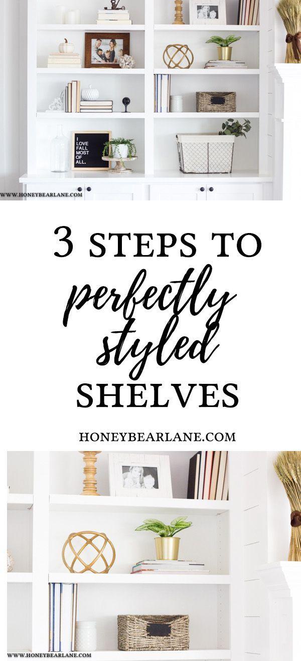How To Style Bookshelves. #organization #storage #homedecor #homedecorideas