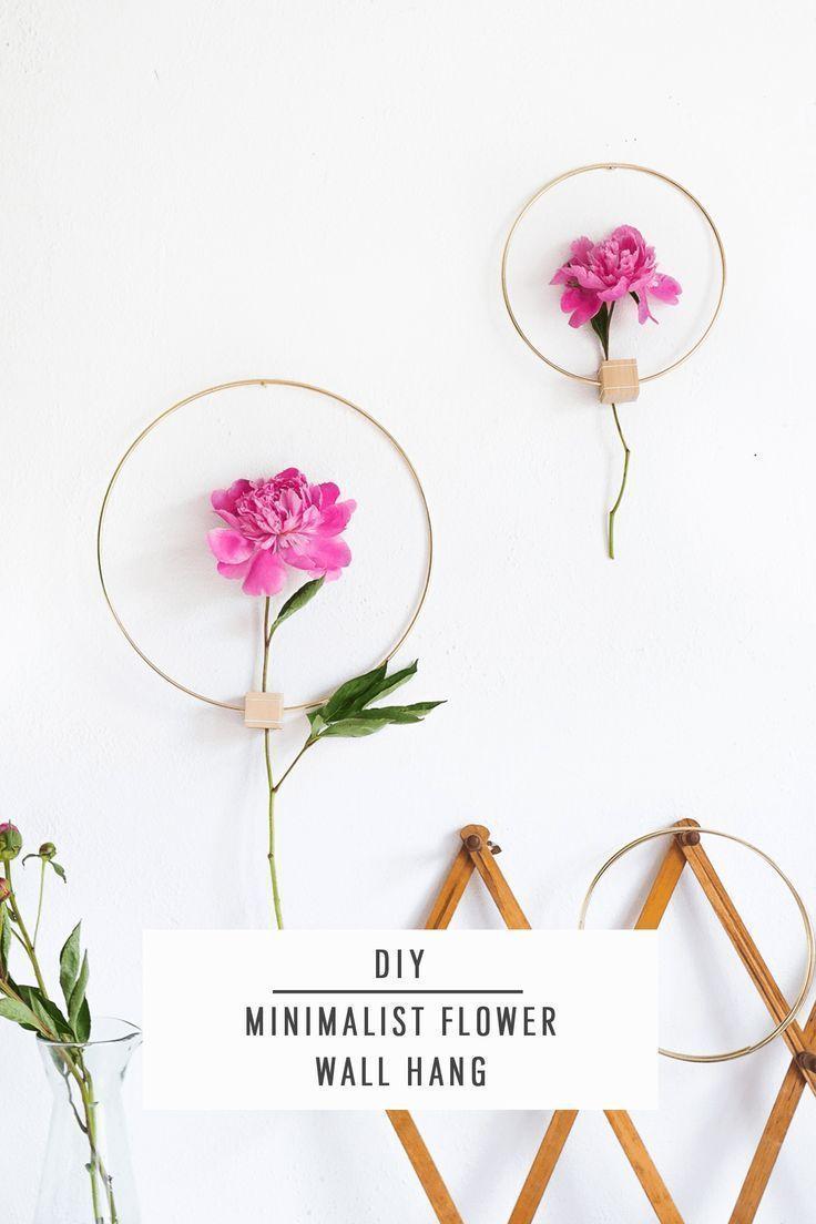 DIY Minimalist Flower Wall Hang by Ashley Rose of Sugar & Cloth, a top lifestyle...