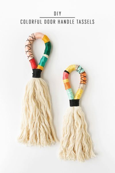 Diy these Colorful Door Handle Tassels for any door in your home! #homedecor #di...
