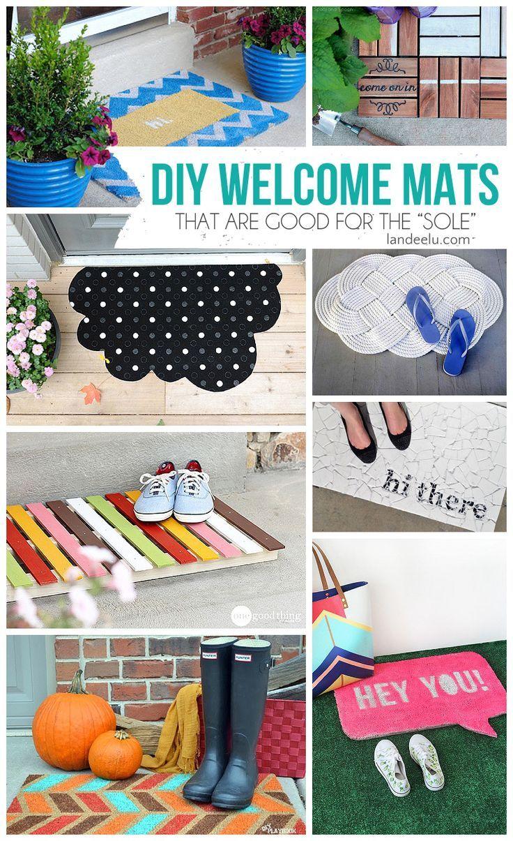 DIY Welcome Mats   landeelu.com  Make your doormat exactly how you want it!  Lot...