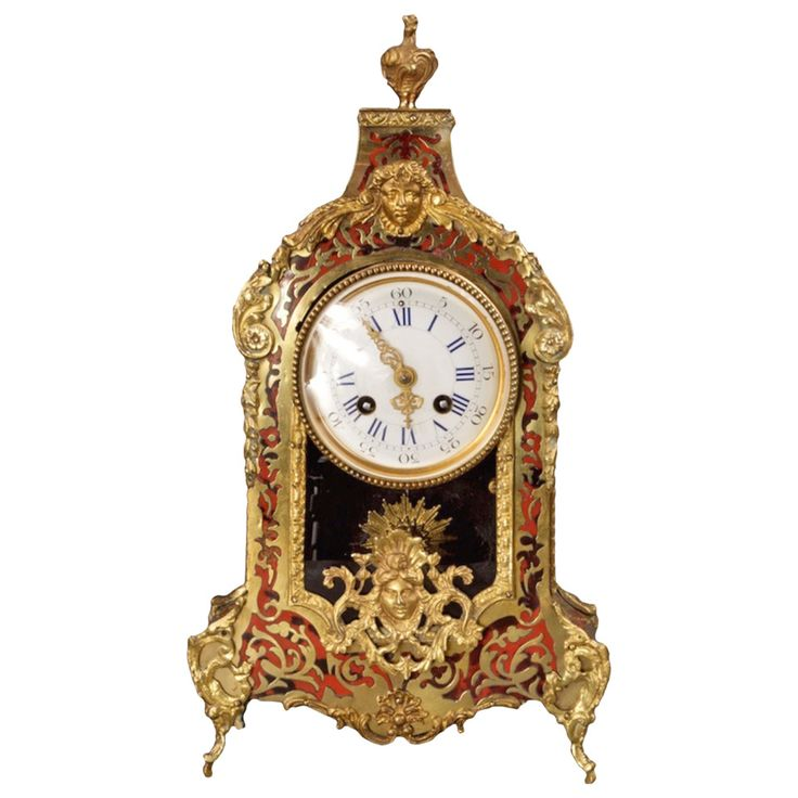 19th Century French Third Empire Mantle Clock in the Manner of André Boulle