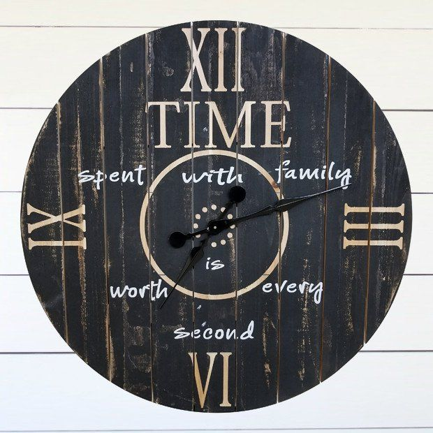 Time Spent With Family Wall Clock