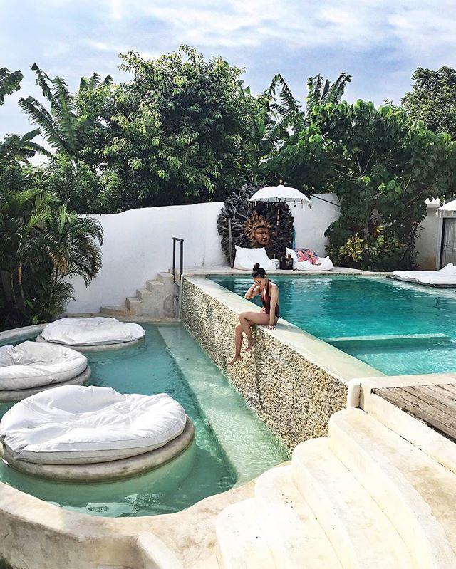 Seriously pool goals. Period. @sal_secret_spot #LifeWellTravelled #LeviGoesBali