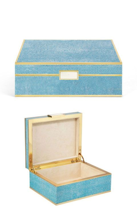 Aerin Shagreen jewelry box