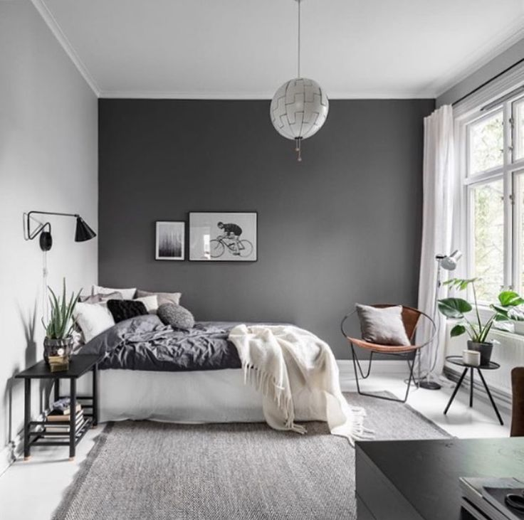 Grey Airy Bedroom