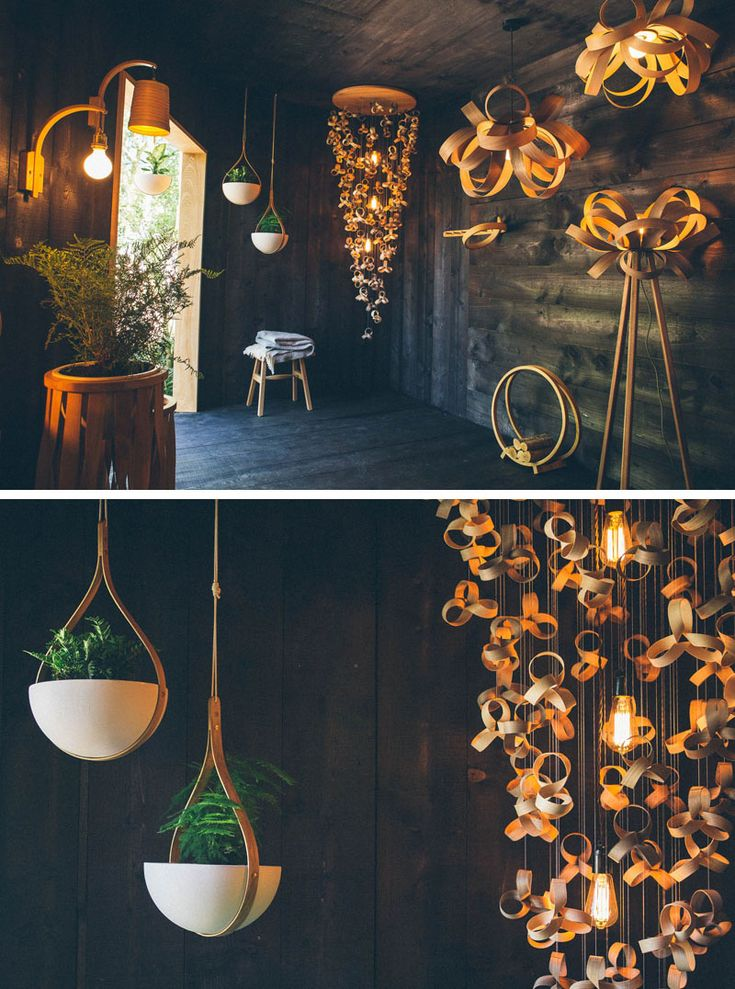 078c630cbb8a3 Lamps and Lighting– Home Decor : Dark wood covers the interior of ...