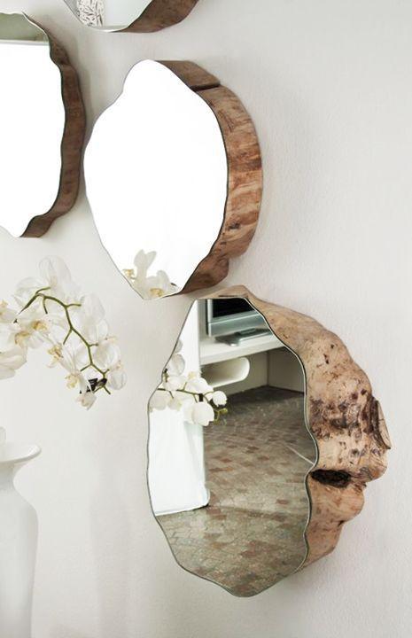 Idée décoration Salle de bain Miroir forme sur mesure