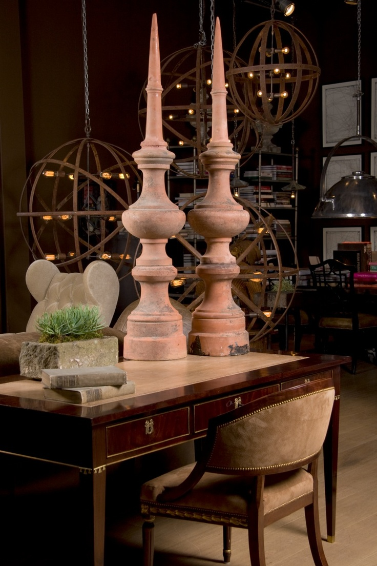 Relics, Sculpture, Motifs for the Home: spheres and finials the ...