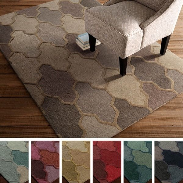 Rugs Home Decor Hand Tufted Ryde Moroccan Trellis Wool Rug 8 X