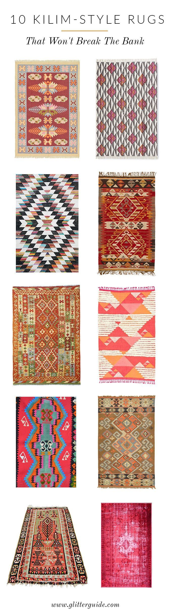 Loving kilim-style rugs these days. Here is where to save on this splurge-worthy...