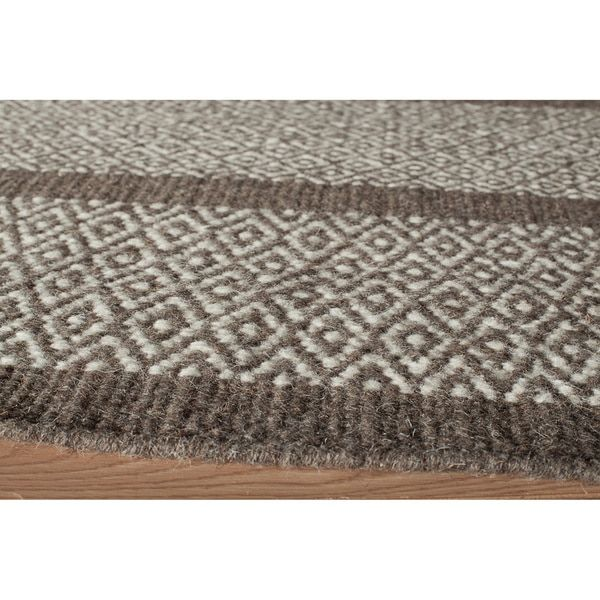 Sorrel Diamond Stripe Reversible Indoor Hand-woven Wool Rug (9' x 12')