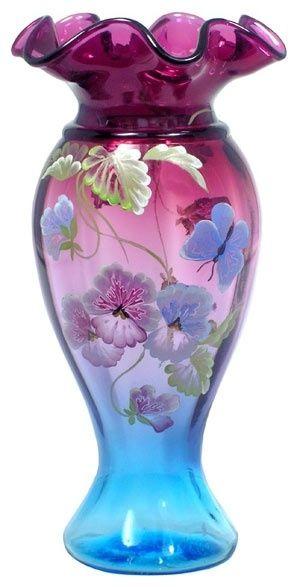 Fenton Art Glass Vase by catrulz