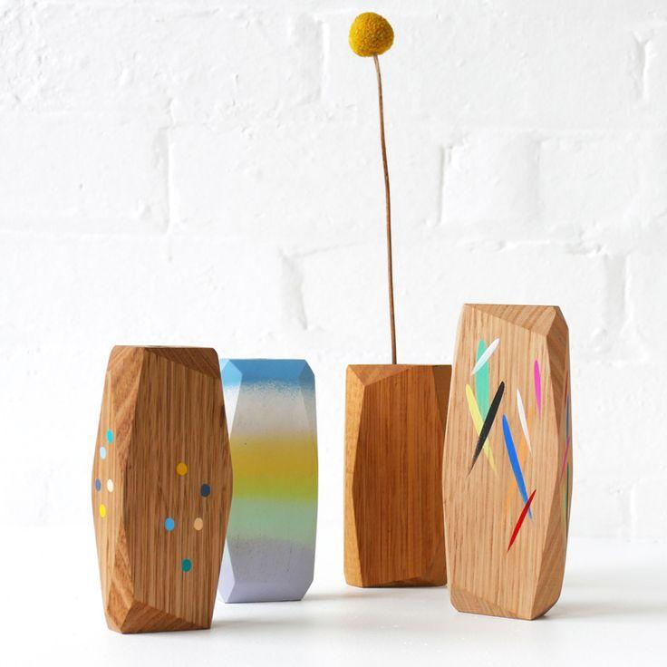 Vases Home Decor Stampel Handmade Wooden Vases Boom Gallery