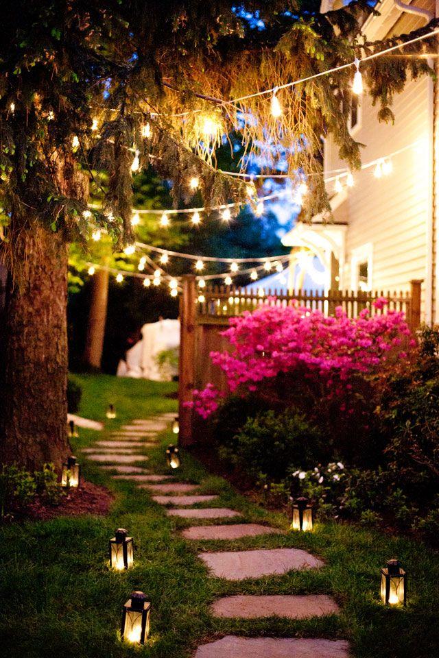 Wedding And Event Lighting A Combination City Hall And Backyard