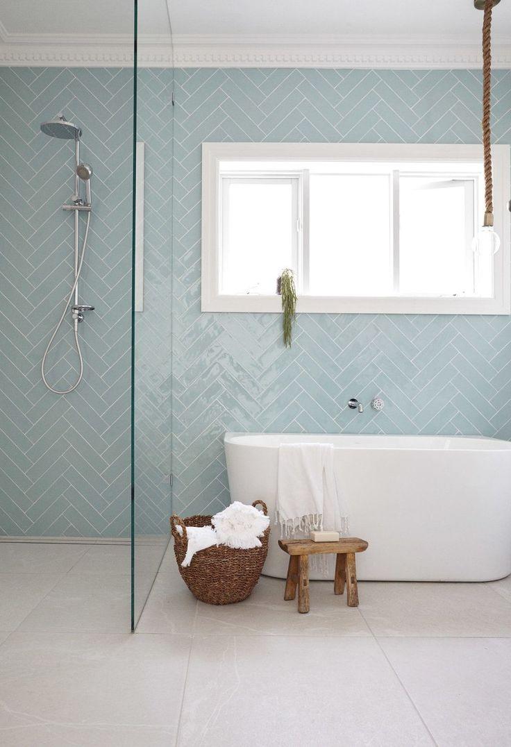 Ensuite Back To Wall Bath Beside Shower Frameless Gl