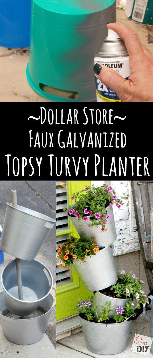 Delicieux Outdoor Decorating : How Do You Make This Topsy Turvy Flower Pot For A  Fraction Of The Cost? Check Ouu2026