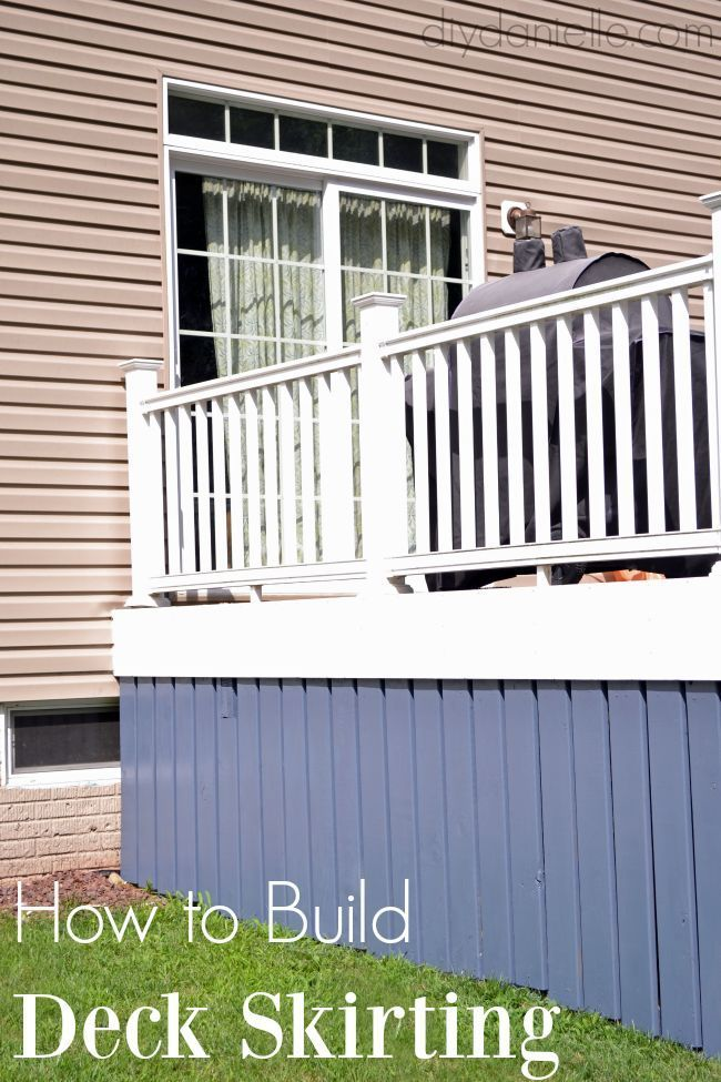 Outdoor Decorating : How to build deck skirting. This is a great ...