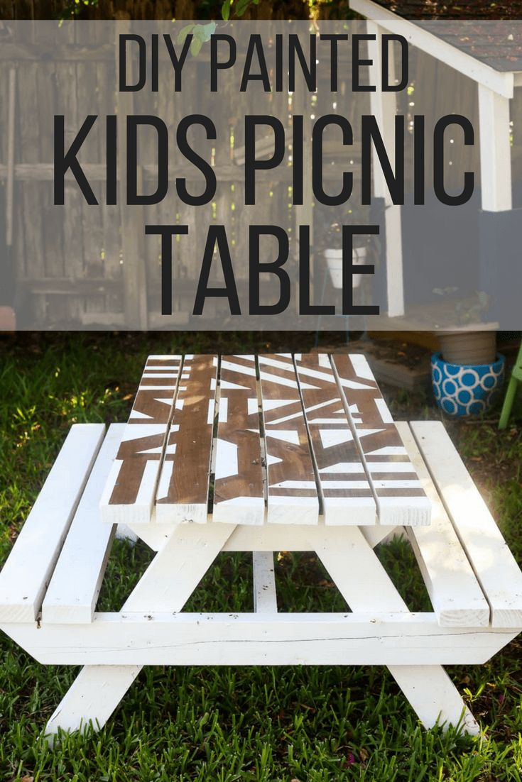 Outdoor DIY Inspiration How To Build And Paint An Adorable DIY - Best paint for picnic table
