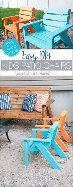 Outdoor DIY Projects : Create The Perfect Backyard Seating With These Easy  DIY Kids Patio Chairs. The Cu2026