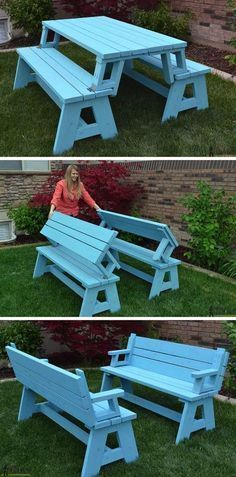outdoor diy projects diy foldable picnic table that turns into