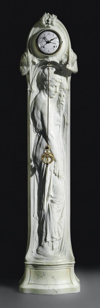A BELGIAN 'ART NOUVEAU' MARBLE REGULATEUR - ATTRIBUTED TO EGIDE ROMBAUX,...