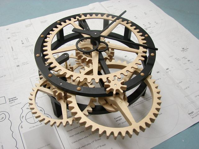 Clocks Decor Free Wooden Gear Clock Plans Download Woodworking