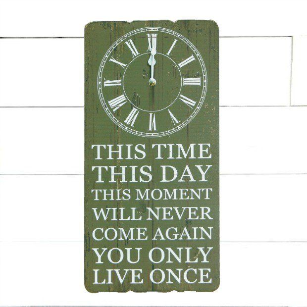 """""""You Only Live Once"""" Wall Clock"""
